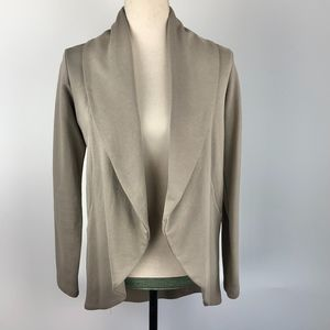 James Perse Cotton Taupe Open Front Blazer Size 1